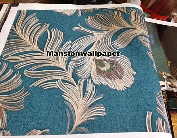 harga Wallpaper dinding luxury bulu merak (roll besar) Tokopedia.com