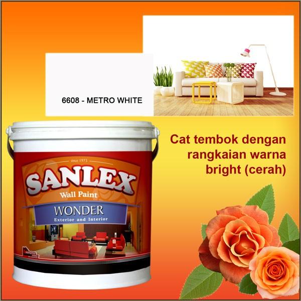 Jual Cat  Tembok  SANLEX WONDER Warna  6608 METRO WHITE