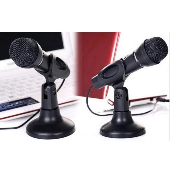 harga Mic pc / mic laptop / high quality microphone 3.5mm with mic holder Tokopedia.com