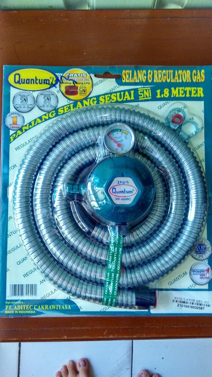 Jual Quantum Qrl 032 Paket Regulator Dan Selang Gas 18 Meter Pink