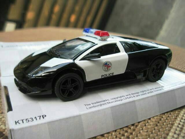 Jual Lamborghini Murcielago Police Diecast Mobil Kinsmart 1 32