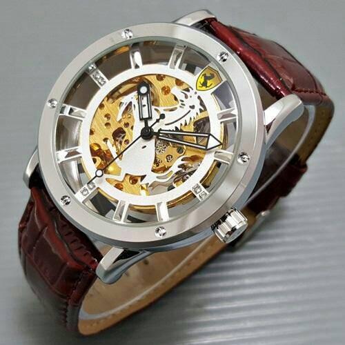 harga Jam tangan pria / cowok ferrari kulit automatic logo Tokopedia.com