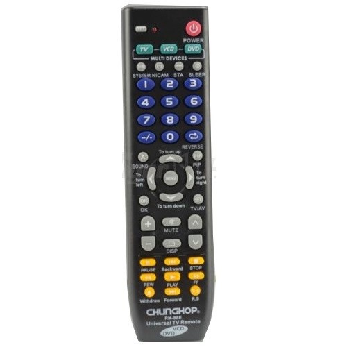 harga Chunghop universal 3 in 1 remote control - rm-88e Tokopedia.com