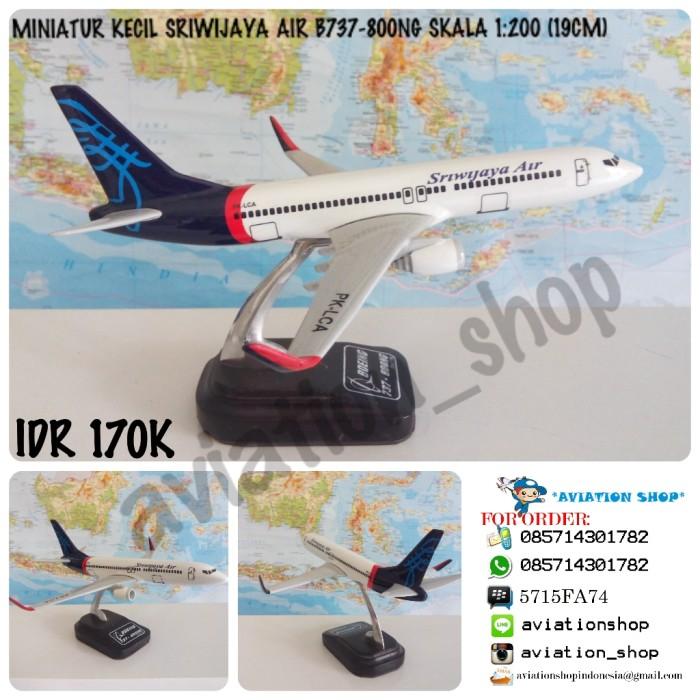 harga Miniatur pesawat sriwijaya air boeing 737-800ng skala 1:200 (19cm) Tokopedia.com