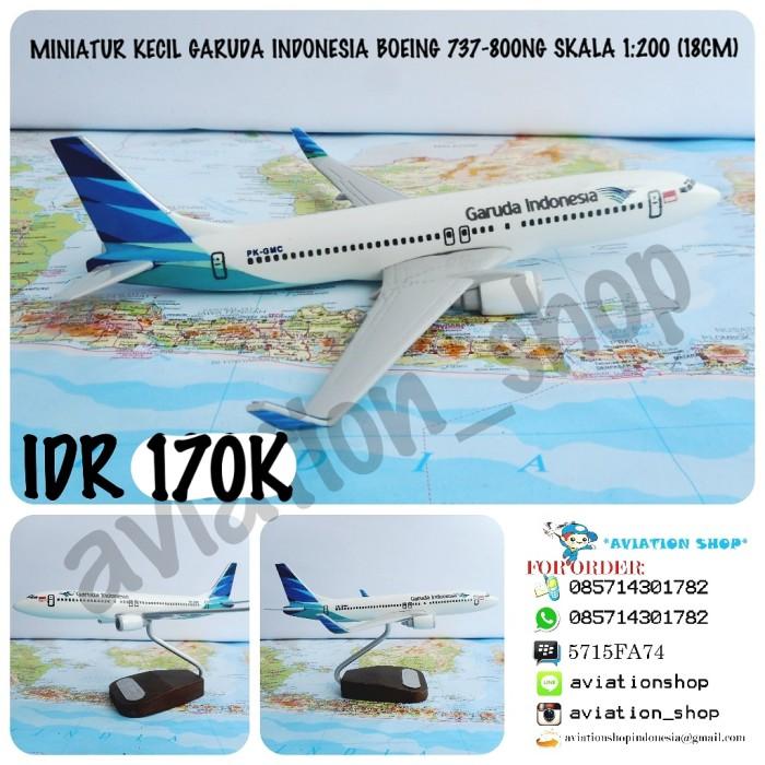 harga Miniatur pesawat garuda indonesia boeing 737-800ng skala 1:200 (19cm)