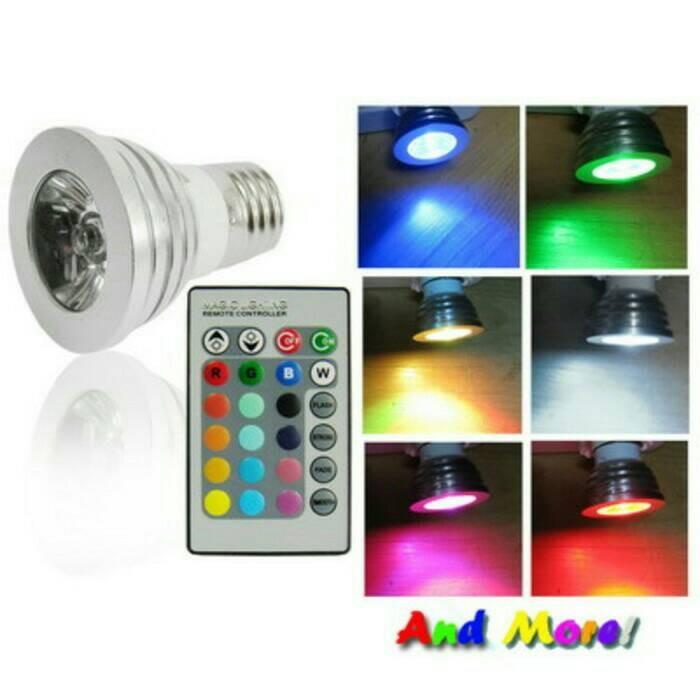 lampu Led 16 warna dengan remote kontrol / led colour changing bulb
