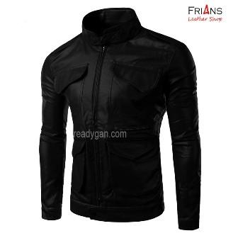 Jual Jaket Semi Kulit Slim Rider Bomber Style New - Frians Leather ... e53538c495
