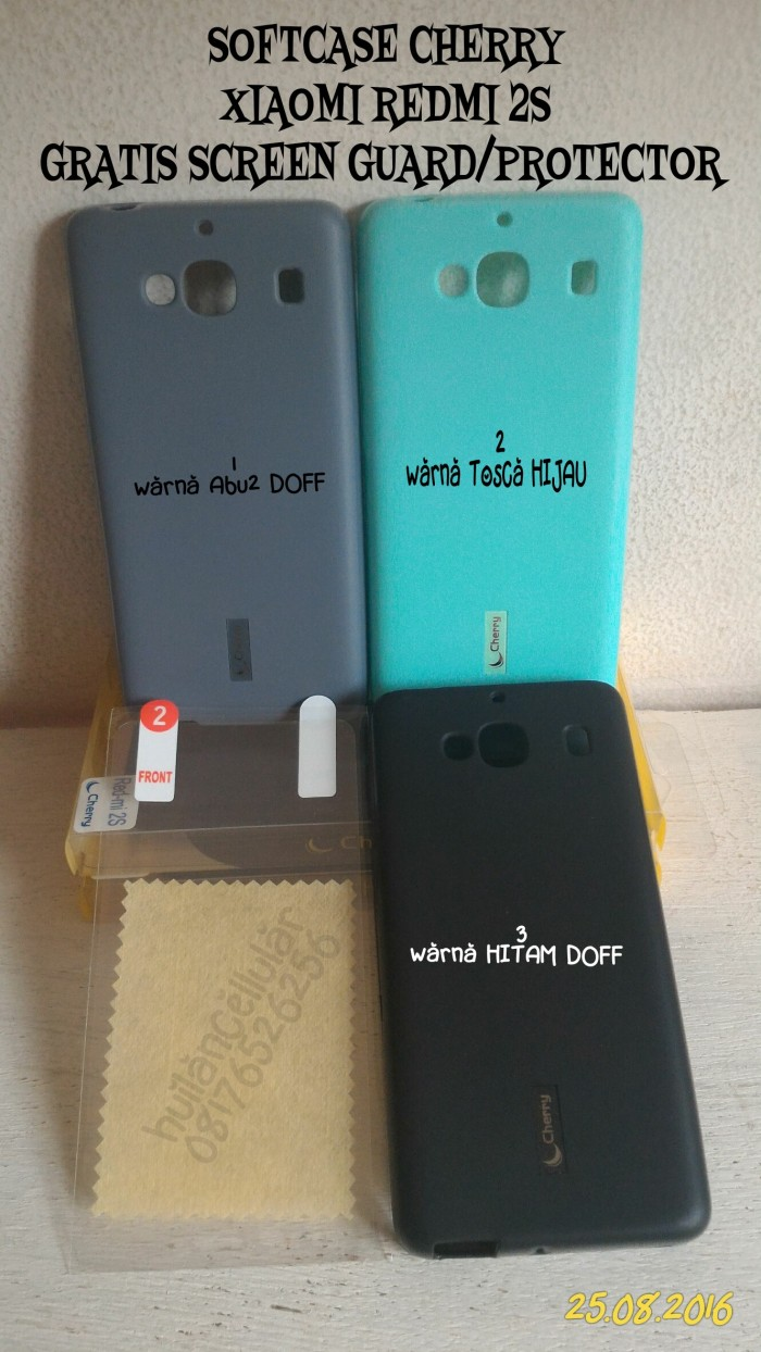 Jual Cherry Softcase Xiaomi Redmi 2s Gratis Hd Screen Guard S2