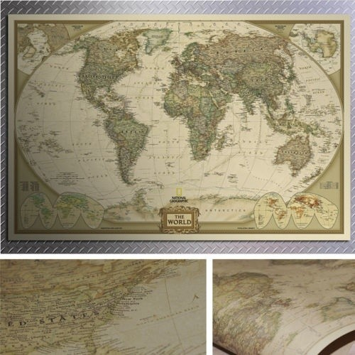 Jual paper matte kraft world map wallpaper litha shop tokopedia paper matte kraft world map wallpaper gumiabroncs Choice Image