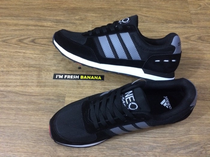 czech sepatu adidas neo city racer cityracer lacer runner black grey hitam  a8b9e 39867 f455ae744a