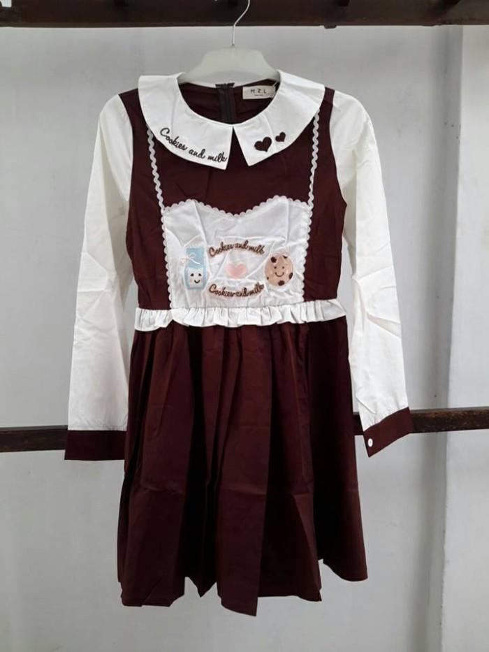 Jual Dress Rok Lolita Jepang Lengan Panjang Baju Cosplay Anime Korea