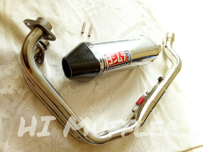 Foto Produk Knalpot Yoshimura USA Custom Fullsystem Ninja 250 Fi (2 Silinder), R25 dari HnZ Motor