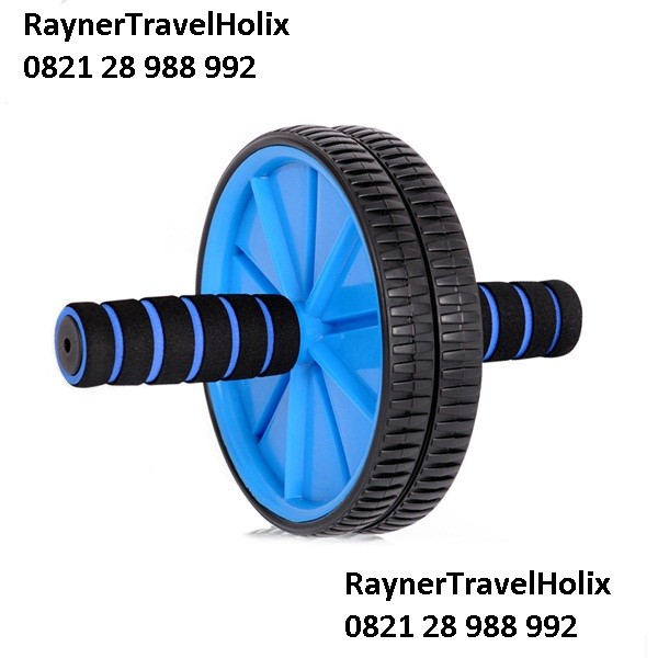 harga Fitness double wheel roller /alat fitness roda roller /pembentuk otot Tokopedia.com