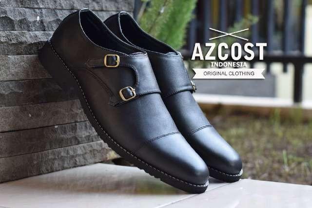 harga Sepatu azcost monkstrap black pria kerja formal pesta resmi hangout Tokopedia.com