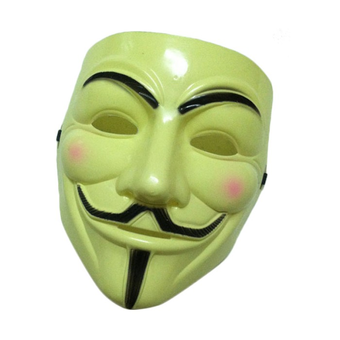 Lucky Topeng Vendetta Topeng Plastik Tahan Lama Topeng Halloween Source · Ormano Topeng Vendetta Mask Occupy Anonymous Cosplay Mainan Anak