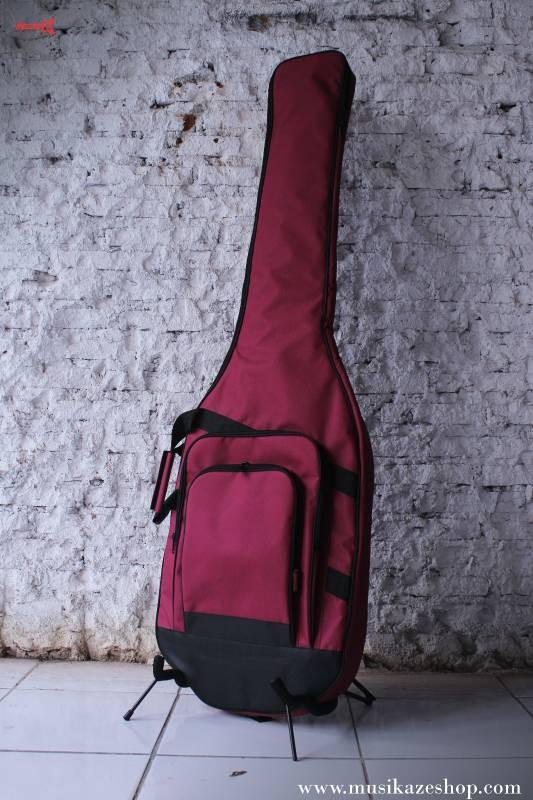harga Semi gigbag ( softcase tebal) bass elektrik merah marun | m-a1 maroon Tokopedia.com