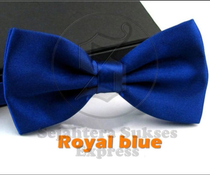 Dasi kupu kupu satin biru tua grosir dn eceran bisa utk wedding ...