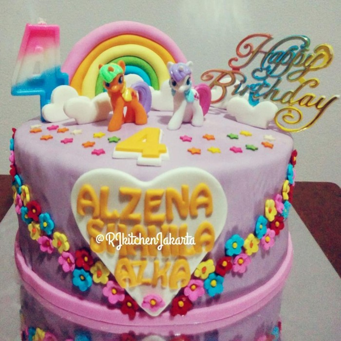 Jual Kue Ulang Tahun Little Pony Little Pony Cake Kue Kuda