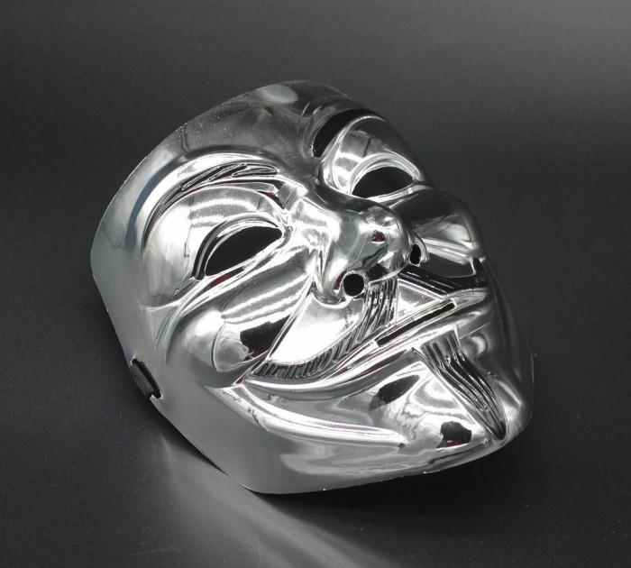 ... harga Topeng v for vendeta /vendetta mask silver halloween cosplay Tokopedia.com