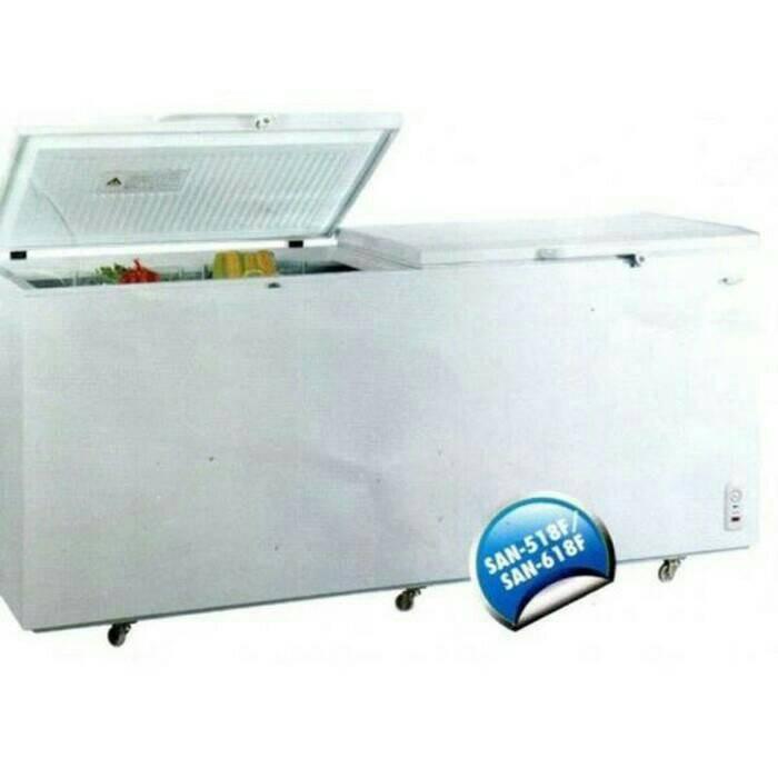 harga Sansio chest freezer - san 618f - garansi resmi Tokopedia.com