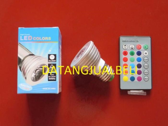 LED Light Bulb bohlam lampu warna warni dengan Remote Wireless