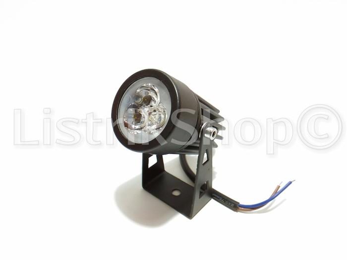 Lampu spot / sorot outdoor led 3 watt mini (cahaya biru)