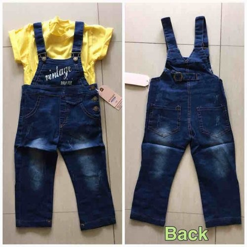 Annbaby Jeans Vintage Overall   Celana Jeans Anak   Import