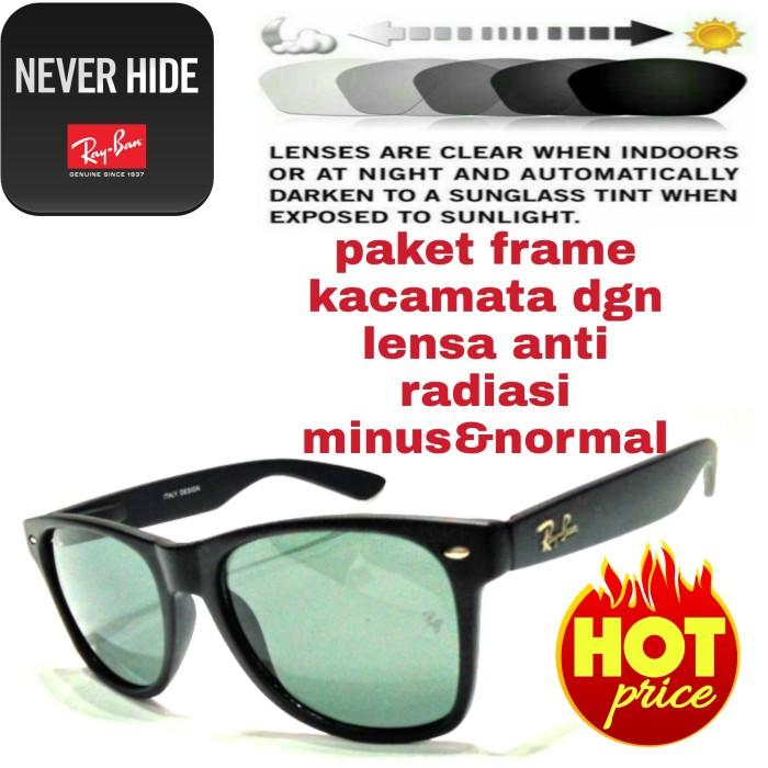 Jual paket frame kacamata dgn lensa anti radiasi minus amp normal ... 99176408dd