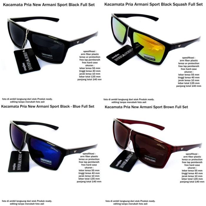 Jual kacamata sunglasses pria new armani sport full set ... 9e843bd35e