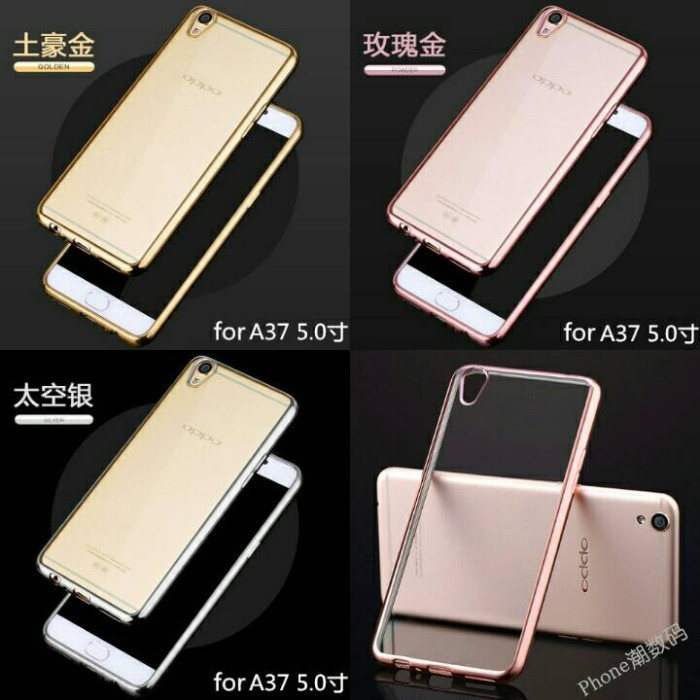 Shining Oppo Neo 9 A37 Chroom softcase Jelly Case Backcover
