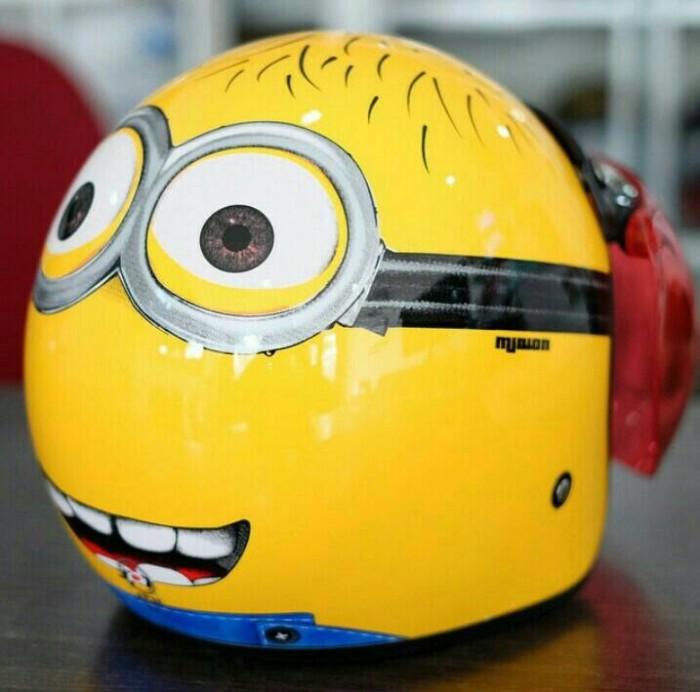 Helm Bogo Retro SNI JPN Minion Kuning + Kaca Bogo Ori