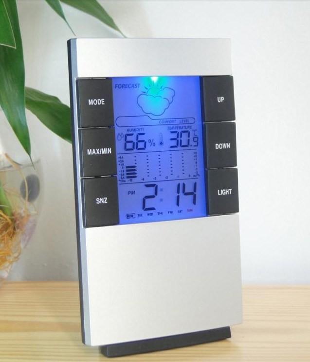harga Weather station humidity temperature alarm desk clock / jam alarm Tokopedia.com