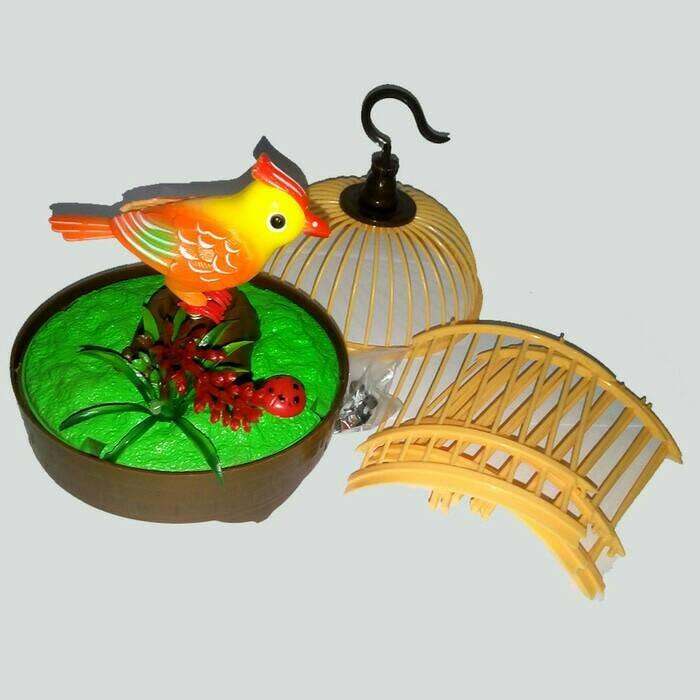 harga Heartful bird mainan burung bernyanyi dalam sangkar Tokopedia.com