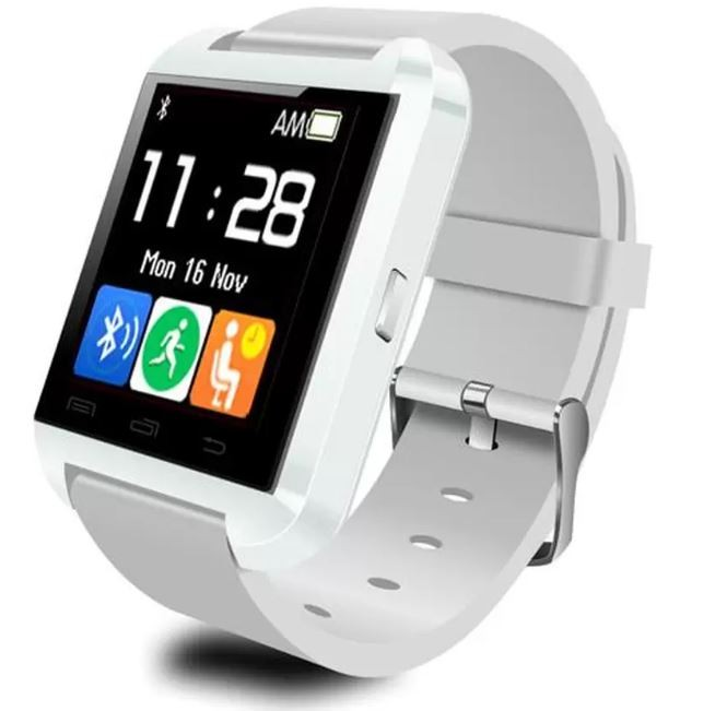 Brandy's U Watch U8 Smartwatch Original - Strap Rubber - Putih