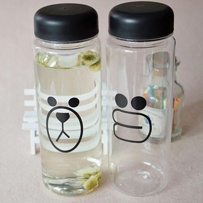 Botol Minum Plastik Bening Line Character Sally Brown 500ml .
