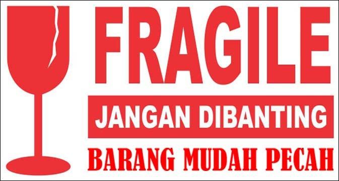Jual Stiker Fragile/ Barang mudah pecah - Kab. Semarang