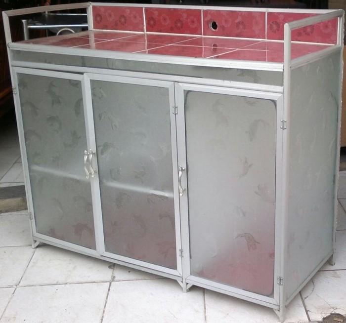 Meja Dapur Kompor 3 Pintu Rak Piring Model Murah