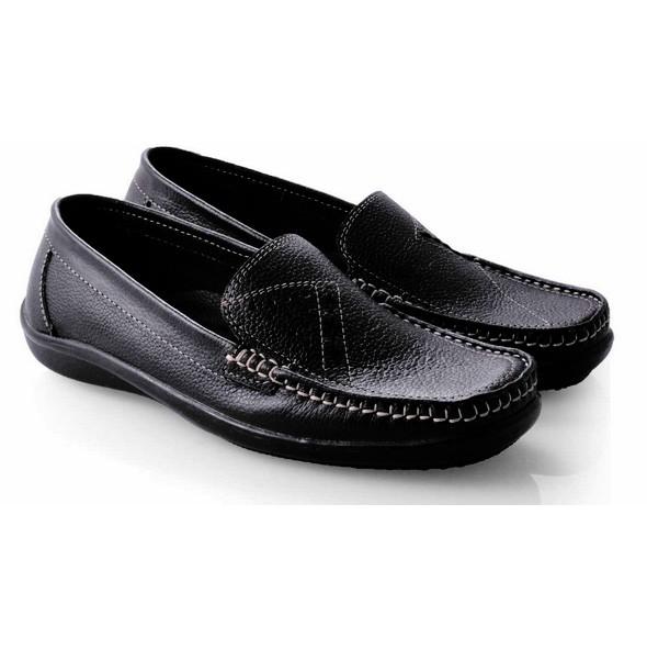 Sepatu Pantofel Wanita Cewek Kulit Asli Flat Kantor Kerja Formal SO624 b20bdf6435