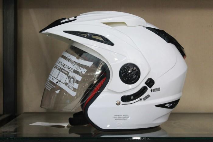 harga Helm rn white halface visor half putih ink kyt mds nhk Tokopedia.com