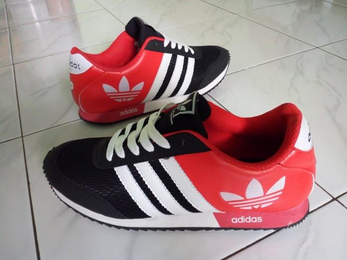 Jual Sepatu Adidas Neo Laser Merah Hitam Cowok Cewek Casual