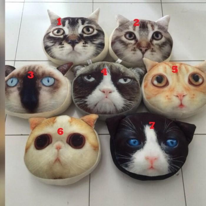harga Bantal 3 dimensi kepala kucing Tokopedia.com