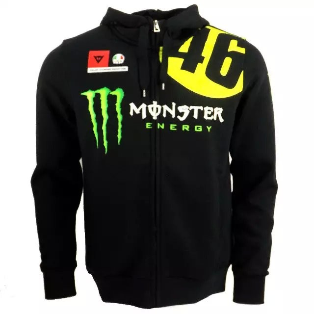 harga Zip hoodie/jaket/jumper/sweater monster energy | vr46 Tokopedia.com