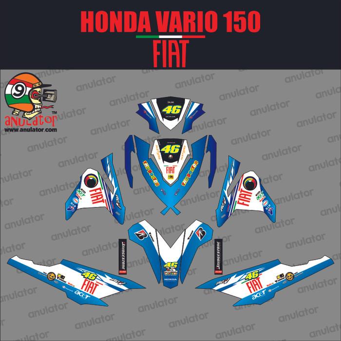 harga Sticker striping motor stiker honda vario 150-vri46 fiat biru spec a Tokopedia.com