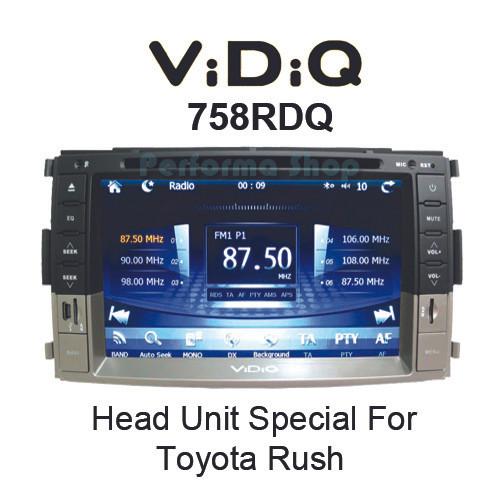 harga Head unit / tape mobil toyota rush/daihatsu terios (vidiq 758rdq) Tokopedia.com