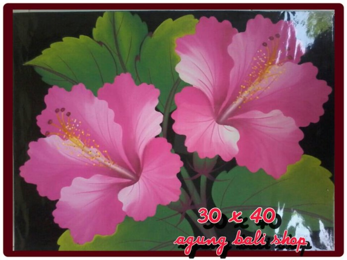 Jual Lukisan Bunga Pucuk Bali Kab Gianyar Agungbalishop Tokopedia