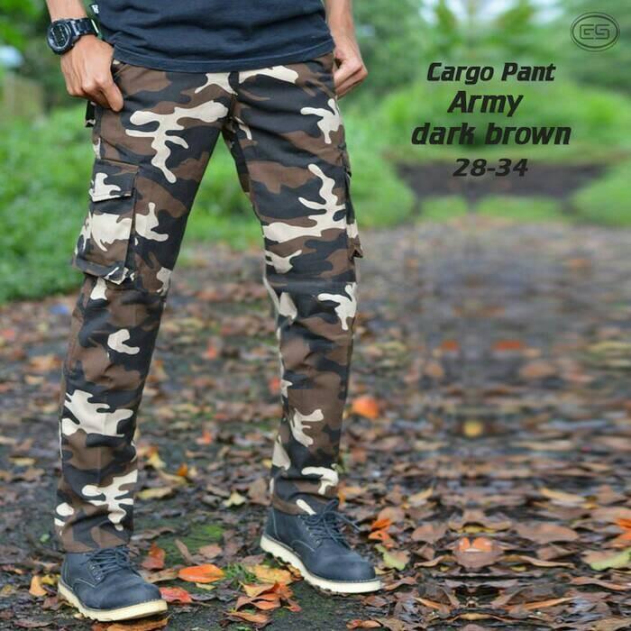 harga Celana pria cargo panjang loreng coklat kargo pdl celana gunung Tokopedia.com