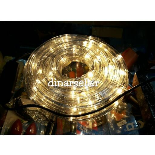 harga Lampu selang led 10 meter fleksibel outdoor / indoor warm white Tokopedia.com