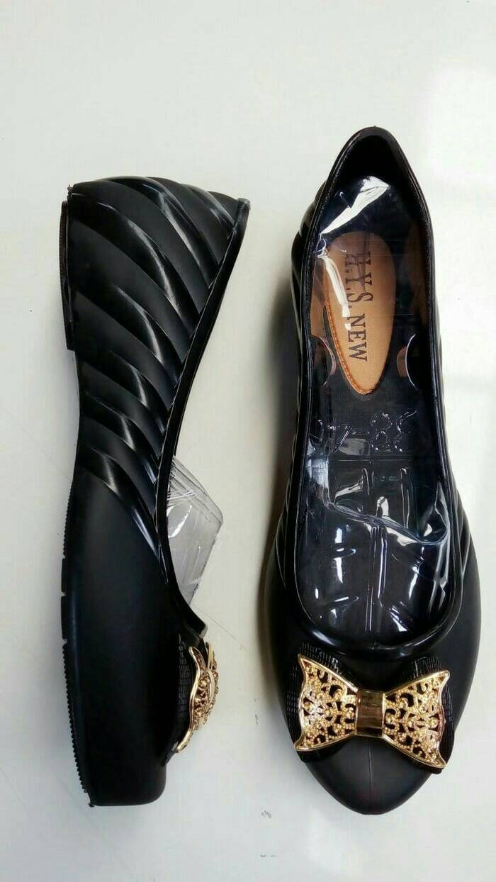 ... Jual Flat Shoes Pita Gold Glossy List Sepatu Wanita Kerja Kantor Penawaran Bagus Kelincimadu Rose Flatshoes