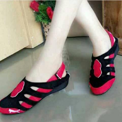 Sandal wanita   sepatu kets   flat shoes puma rep hitam merah 7ddbb374fe