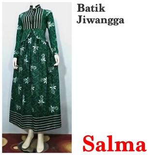 Jual Baju Gamis Batik Wanita Busui Salma Ijo 71822f64f5